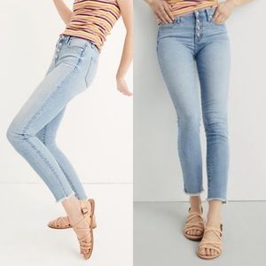 """Madewell 9"""" High-Rise Skinny Crop Button-Front"""